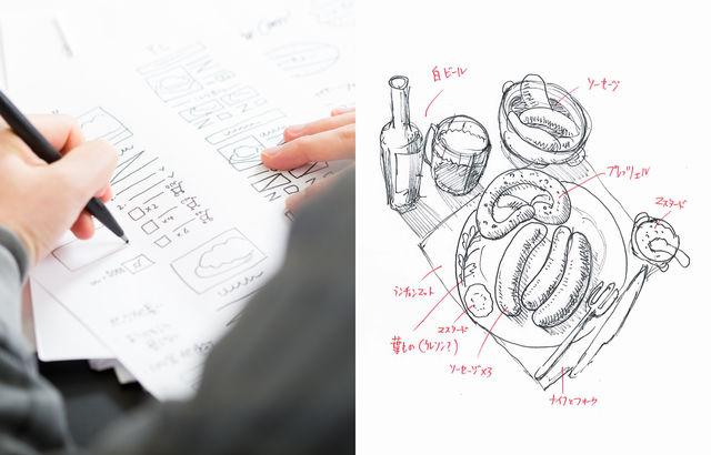 手描きのWEBページラフ