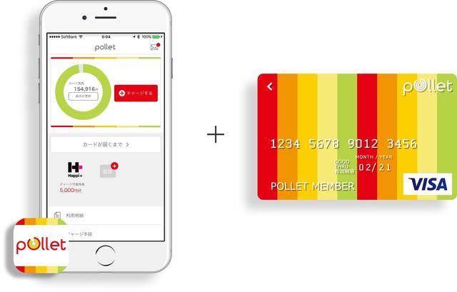 Pollet は貯めたポイントをプリペイドカードにチャージして使えるサービス