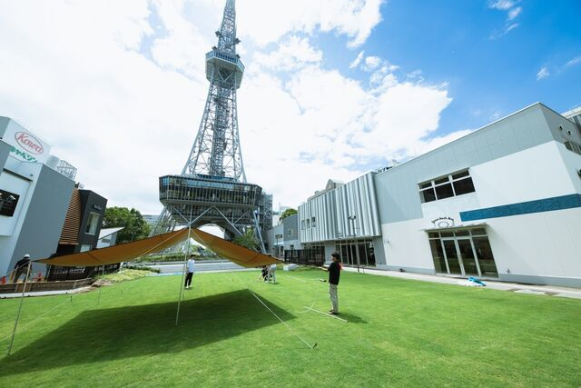 名古屋の中心、久屋大通公園に展開