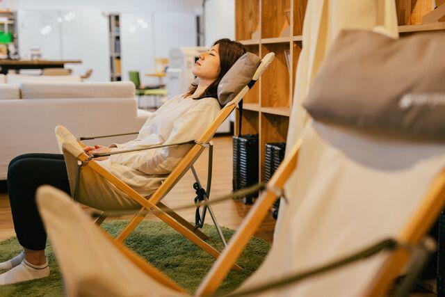 集中力が切れたときは、仮眠をとるスペースもあります