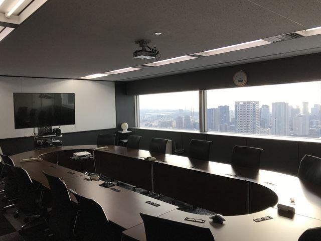 当社会議室「TV会議システム全室設置」